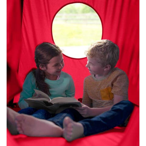 HearthSong HugglePod HangOut Hanging Chair - Red - One Size - One Size