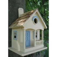 "10"" Fully Functional Yellow Lakeshore Cottage Outdoor Garden Birdhouse"