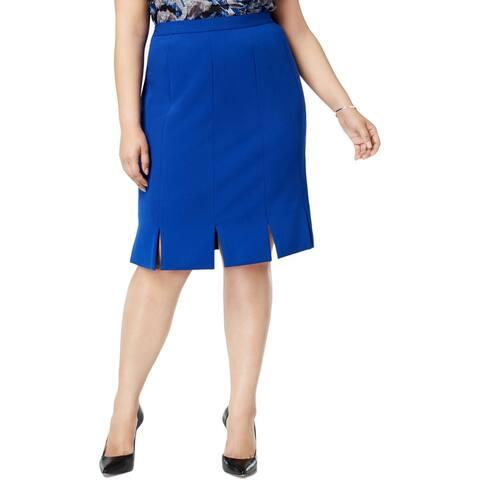 Kasper Womens Plus Car Wash Skirt Suit Separate Office Wear