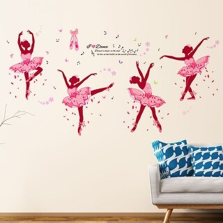 "Ballet Gril DIY Wall Stickers Removable Decal 35.4""x23.6"""