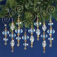 Nostalgic Christmas Beaded Crystal Ornament Kit - Gold & Crystal