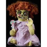 Halloween Horror Scary Table Tot Iris Girl Animatronic Prop