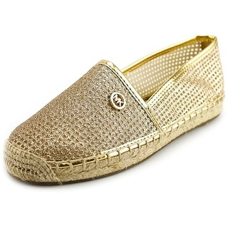 Michael Michael Kors Kendrick Slip On Women Round Toe Synthetic Gold Espadrille
