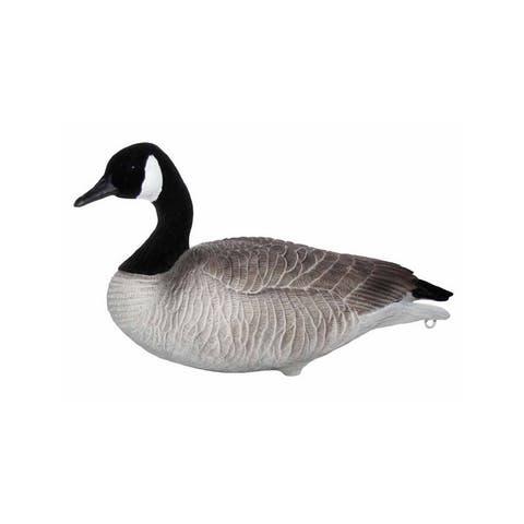 Mayhem Decoys Canada Goose Flocked Head 12 Pack Black White - Black White