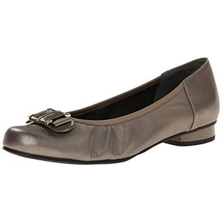 Rose Petals by Walking Cradles Womens Mila Leather Slip On Ballet Flats - 9.5 wide (c,d,w)