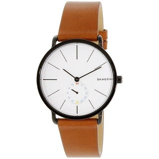 Skagen Men's Brown Leather Quartz Dress Watch