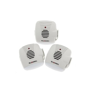 Bell + Howell Ultrasonic Pest Repeller with AC Outlet & Night Light - 3 Pack - White