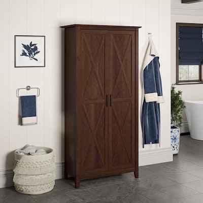 Key West Bathroom Storage Cabinet with Doors by Bush Furniture
