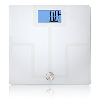 Ivation Bluetooth Digital Smart Scale with FREE App for iPhone & Android Smartphones & Tablets (White)