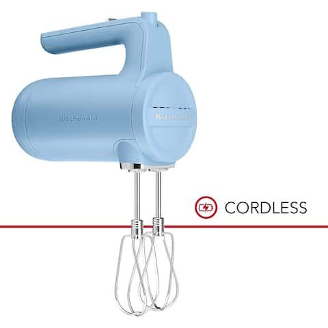 KitchenAid Cordless 7 Speed Hand Mixer KHMB732VB Blue