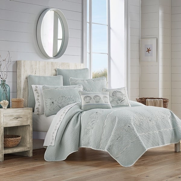 Royal Court Water's Edge Coastal Quilt Set. Opens flyout.