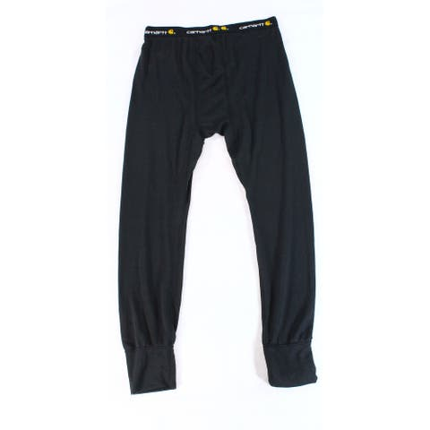 Carhartt Mens Pants Deep Black Size 2XL Base Force Thermal Logo-Band