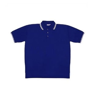 Men's Blue Knit Pullover Golf Polo Shirt - X-Large