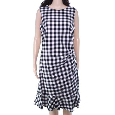 Lauren by Ralph Lauren Women's Dress Black Size 0 Sheath Flounce Hem