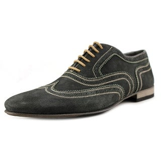 Doucal's S0006 Men Wingtip Toe Suede Blue Oxford