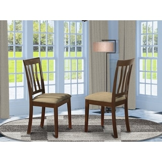 Link to Cappuccino Antique Dining Room Chair For Kitchen in Cappuccino Finish (Set of 2) Similar Items in Dining Room & Bar Furniture