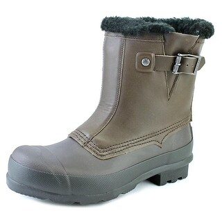 Hunter Org Shearling Biker Round Toe Synthetic Rain Boot