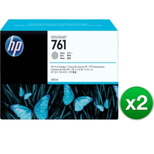 HP 761 400-ml Gray DesignJet Ink Cartridge (CM995A)(2-Pack)