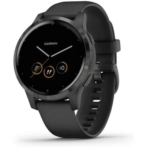 Refurbished Garmin vivoactive 4S Black with Slate Hardware Watch