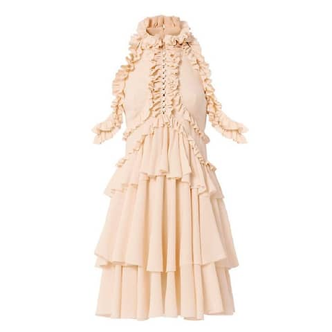 Alexander McQueen Pink Ruffle Dress 42
