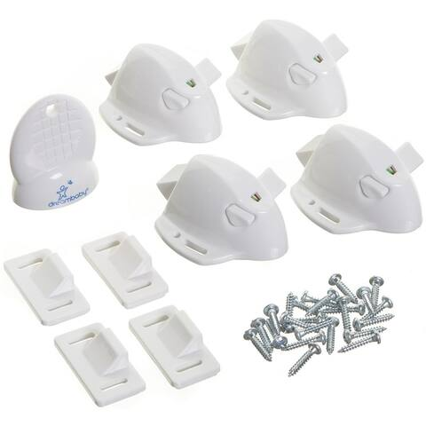 Dreambaby L855A Adhesive Magnetic Cabinet Locks, White, Plastic Adhesive - White
