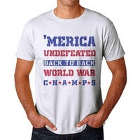 America Undefeated Men's White T-shirt