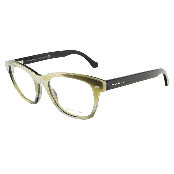 Balenciaga BA5011/V 064 Yellow Black Horn Square prescription-eyewear-frames - 52-19-140