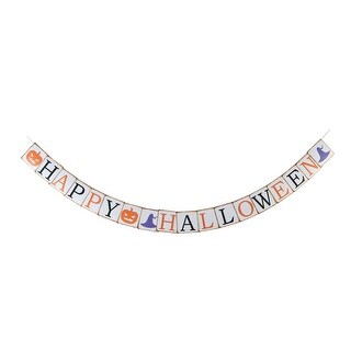 Paper Pumpkin Letter Print Hanging Halloween Decoration Photo Prop Banner Bunting