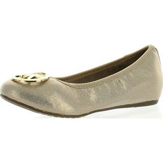 Michael Kors Girls Faye Ria Designer Mk Fashion Flats Shoes