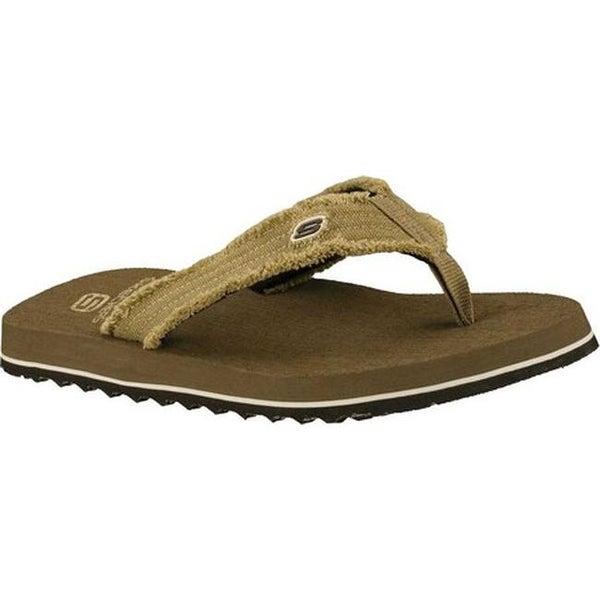 Skechers Men's Tantric Fray Fashion Black Flip Flop Sandals Shoes