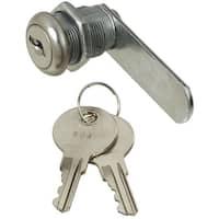 "National Hardware N185-280 Door/Drawer Keyed Alike Utility Lock, 1/2"", Chrome"