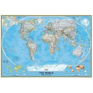 National Geographic RE00622002 World Classic Map - Laminated