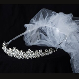 Kids Dream Girls Crystals Special Occasion Crown Veil Tiara