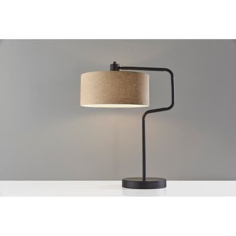Adesso Antique Brass or Bronze Jacob Table Lamp