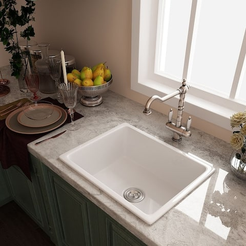 Eridanus Rio 24 inch Farmhouse Drop-in Kitchen Sink