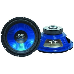 Pyle 10'' 600 Watt Blue Cone High Performance Subwoofer