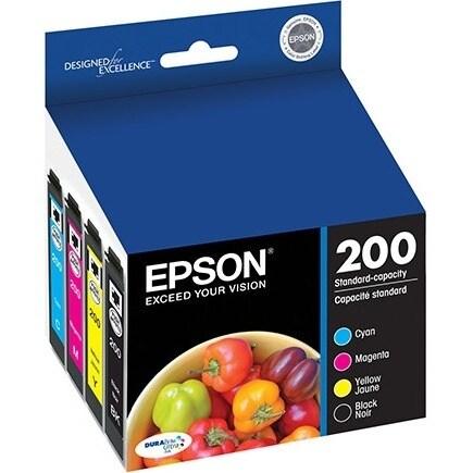 Epson T200120-BCS Black & CMY Ink Cartridge f/ Expression Home & WorkForce Printers