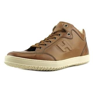 Hogan Cassetta 168 U Mid Cut H Rilievo Leather Fashion Sneakers