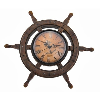 Master of Destiny Ship`s Wheel Nautical Wall Clock 11.5 inch - 11.5 X 11.5 X 2.5 inches