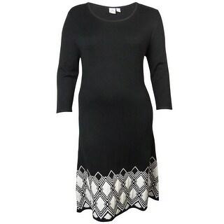 Sangria Women's Geo Print Sweater Dress
