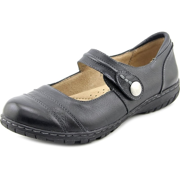 Naturalizer Rhode Women Round Toe Leather Black Mary Janes