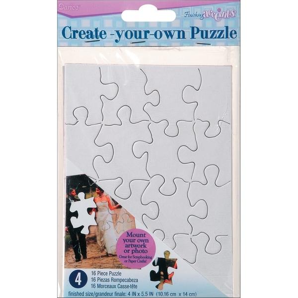 """Create Your Own Puzzle 16 Pieces 4""""X5"""" 4/Pkg-"""