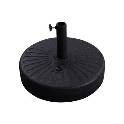 "Bonosuki Patio Umbrella HDPE Base 50lbs Round Water Filled Stand - Φ19.7"""