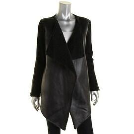 Velvet Womens French Terry Faux Fur Basic Jacket