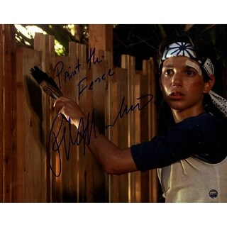 Ralph macchio Painting Fence 8x10 Photo w Paint the Fence Insc