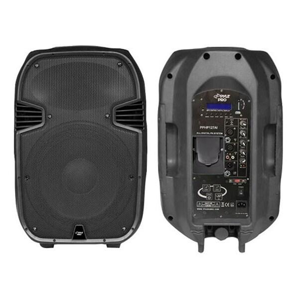 12 in. 1200 Watt Powered 2 Way Full Range PA Speaker with Built-In