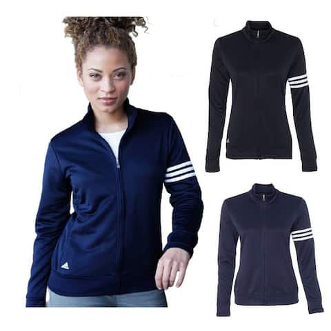 Adidas Women's Athletic 3-Stripes French Terry Full-Zip Jacket