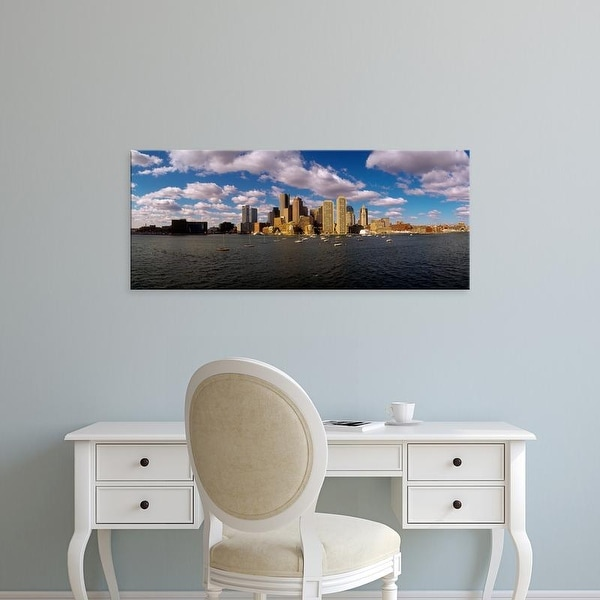 Easy Art Prints Panoramic Image 'Boston Harbor skyline at waterfront, Boston, Suffolk County, Massachusetts' Canvas Art