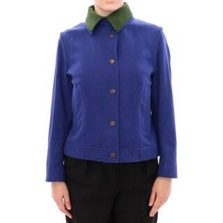 Andrea Incontri Andrea Incontri Habsburg Blue Green Wool Jacket Coat