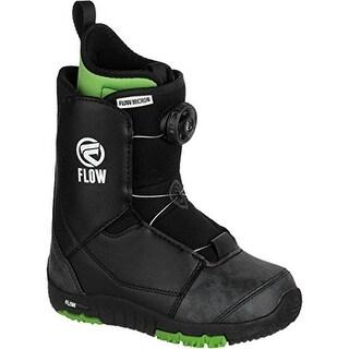 Flow Micron Boa Kids Snowboard Boots 2017 - Black